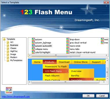 123 Flash Menu
