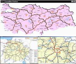 T.C. Karayolları Haritası