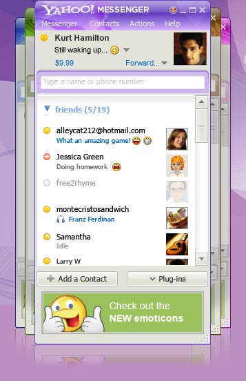 Yahoo messenger gets a redesign, now integrates with flickr, tumblr, and xobni