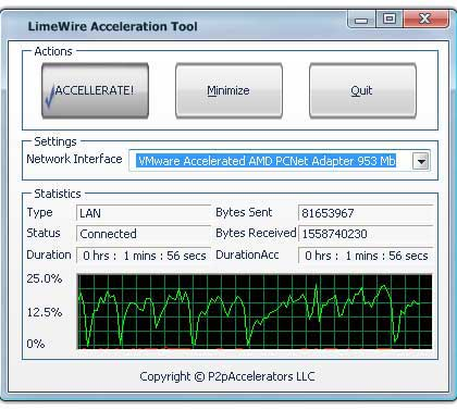 LimeWire Acceleration Tool