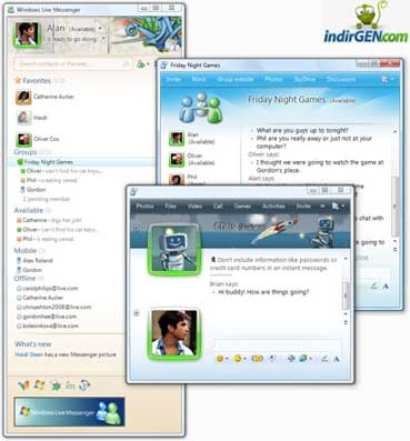 Windows Live Messenger Son Sürüm