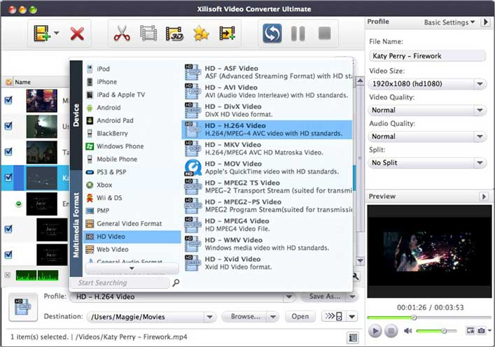 Xilisoft Video Converter for Mac