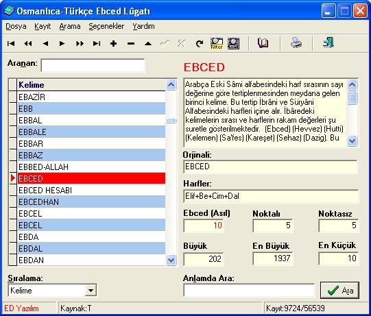 Osmanlıca-Türkçe Ebced Lugatı